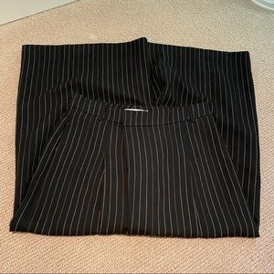 Black and green striped wide leg Vince pants